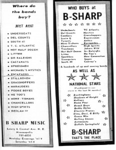 B Sharp ad's