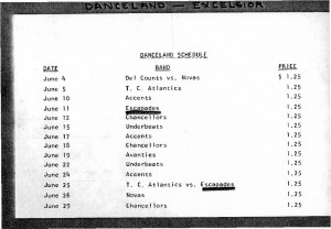Danceland Schedule -1
