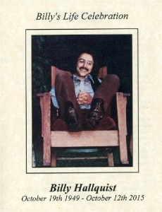 Billy H Memorial - Cover