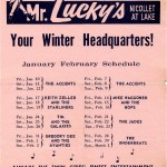 Mr Lucky's Band Schedule 1964