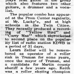 Newspaper Article January 1964