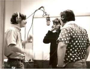 3 on Mic in studio 2