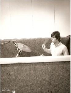 Drummer in Studio
