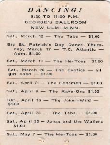 Georges Ballroom Schedule