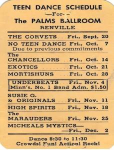 Palms Ballroom Schedule