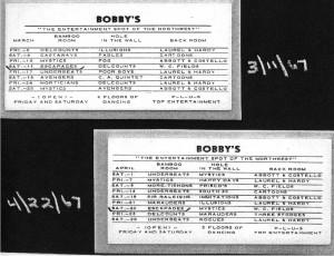 Bobby's Schedule - 1