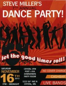Steve Miller's Annual Dance Party 11-16-2013