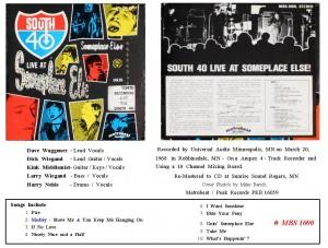 # 9 South 40 LP Release