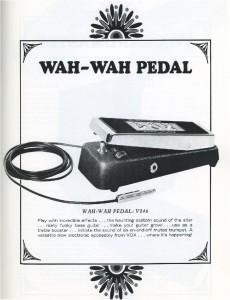 Vox Wah Wah Pedal ad - P